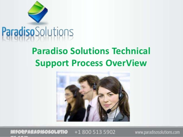 +1 800 513 5902+1 800 513 5902info@paradisosolutioParadiso Solutions TechnicalSupport Process OverView
