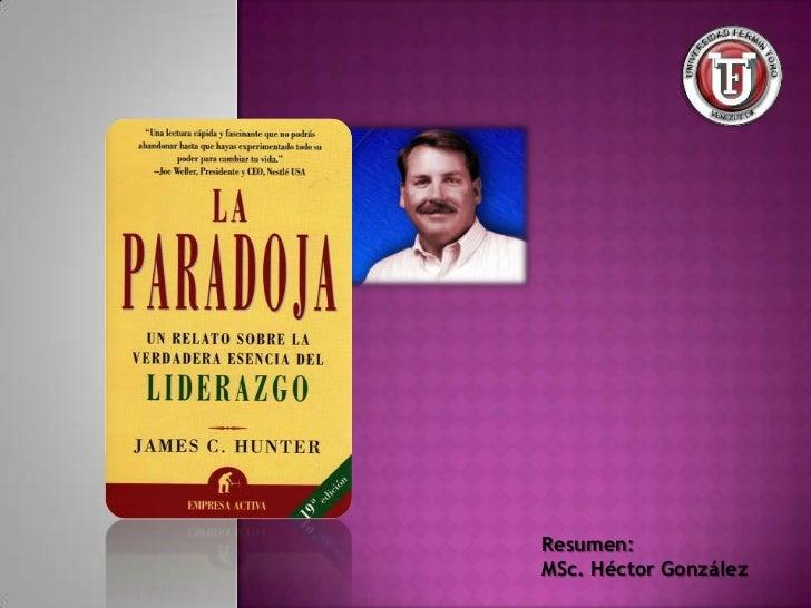 Resumen:MSc. Héctor González