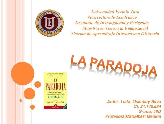 Universidad Fermín Toro Vicerrectorado Académico Decanato de Investigación y Postgrado Maestría en Gerencia Empresarial Si...