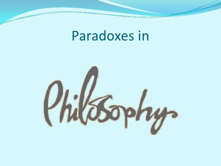Paradoxes in<br />
