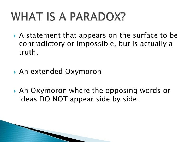 Figurative Language Paradox