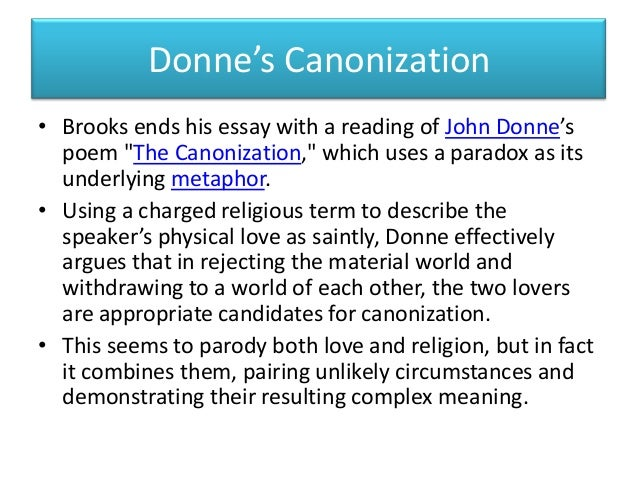analysis of confined love by john donne Analysis of confined love by john donne confine love is a poem inspired by  ovid's work it is a logical game in which the speaker tries to.