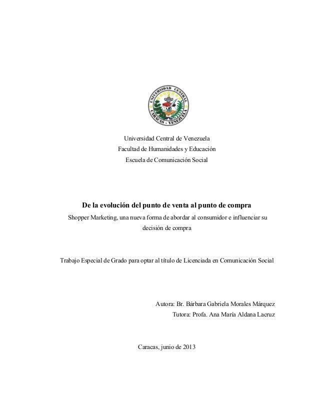 Universidad Central de Venezuela Facultad de Humanidades y Educación Escuela de Comunicación Social  De la evolución del p...