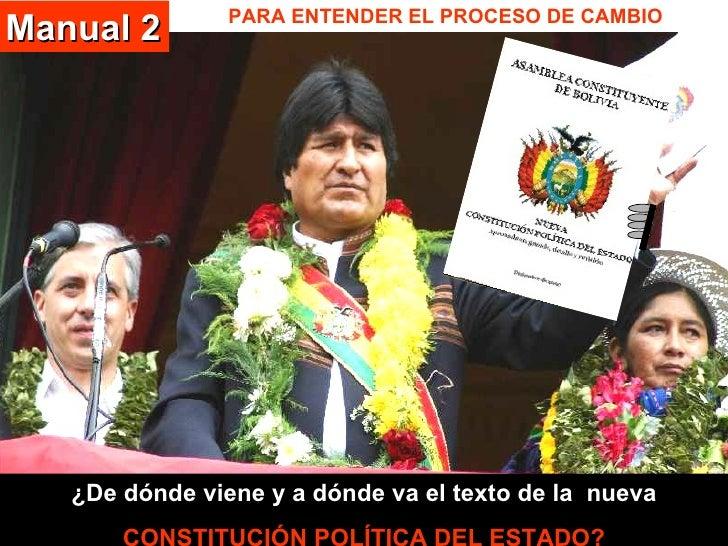 PARA ENTENDER EL PROCESO DE CAMBIO ¿De dónde viene y a dónde va el texto de la  nueva CONSTITUCIÓN POLÍTICA DEL ESTADO? Ma...