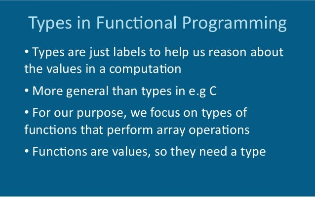 Higher-‐order  Func6ons   •  map:  perform  a  computa6on  on  all  elements  of  an   array  ...