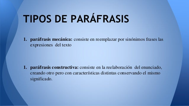 Parafraseo 1