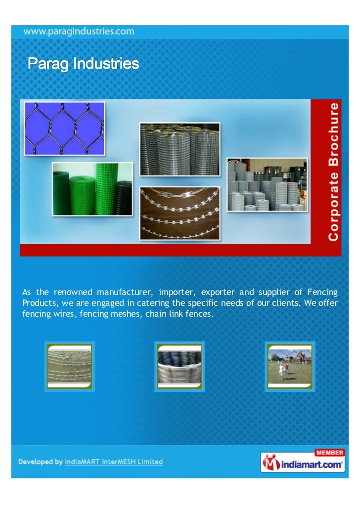 As the renowned manufacturer, importer, exporter and supplier of FencingProducts, we are engaged in catering the specific ...