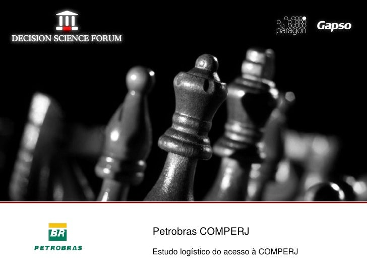 Petrobras COMPERJEstudo logístico do acesso à COMPERJ