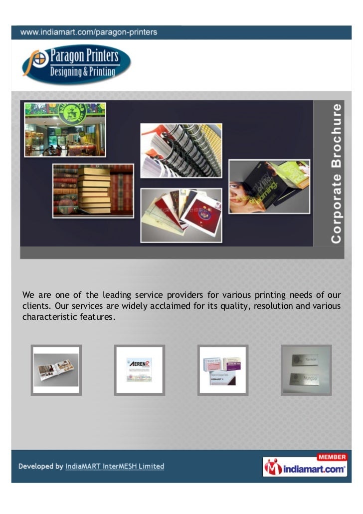 We are one of the leading service providers for various printing needs of ourclients. Our services are widely acclaimed fo...