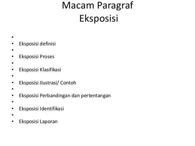 Paragraf Eksposisi