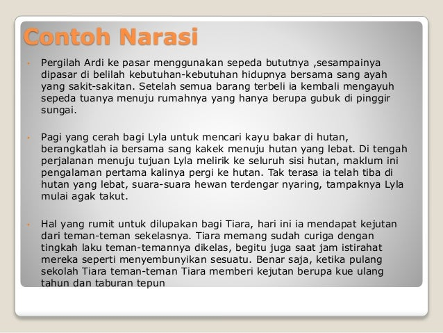 Bahasa Indonesia Paragraf Narasi