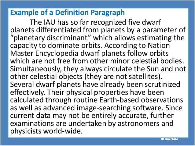 paragraph development definition