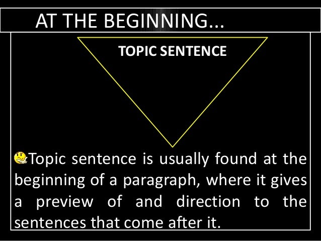implied topic sentence example