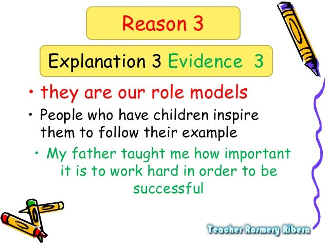 5 paragraph essay role models A role model is a person whose behavior, example, or success is or can be  emulated by others,  1 effect on career opportunity and choice 2 celebrity role  models 3 community role models 4 athlete role models 5 see also 6  references.
