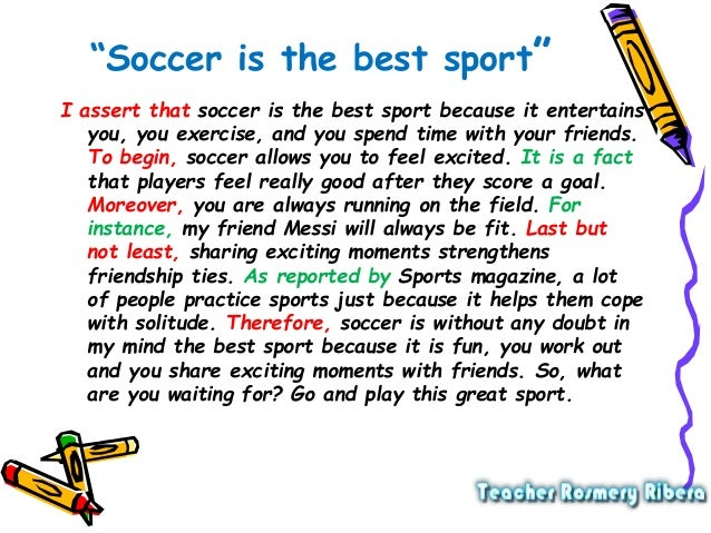 Descriptive essay about soccer field