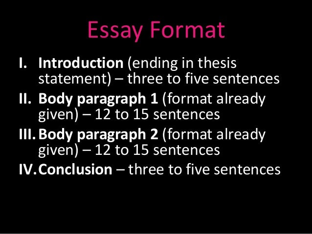 paragraph and essay structure essay formati