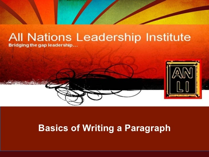 Basics of Writing a Paragraph