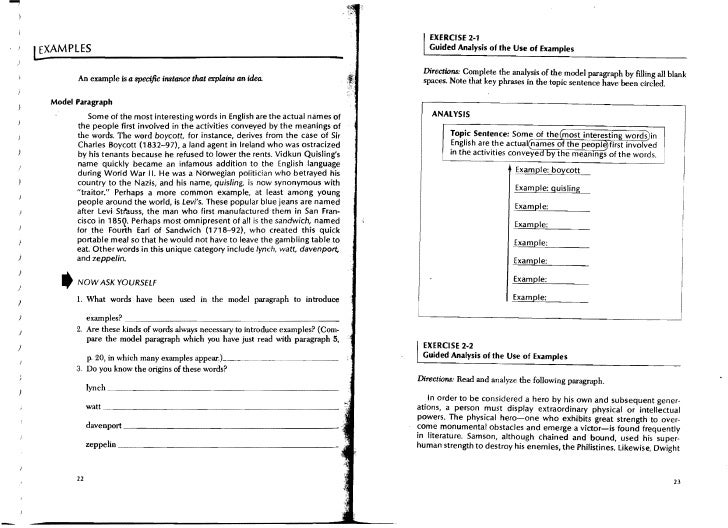 paragraph development Alternative, a set of descriptive models for teaching paragraph development in  esl writing classes is offered here based on the given/new contract, a theory of.