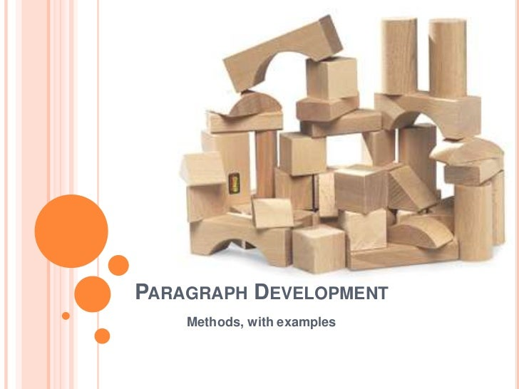 paragraph development examples Example development paragraphs  the following paragraphs represent a weak example of development and three revised paragraphs these are.