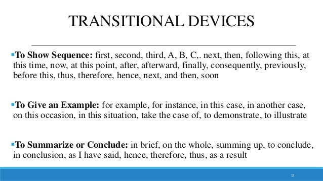 examples of transitions between paragraphs