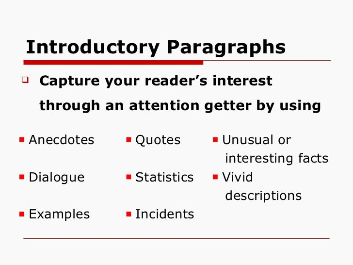 constructing an essay introduction You may also use the following purdue owl resources paragraphs and paragraphing transitions and transitional devices introduction the introduction is the tell the reader why he or she should care and keep reading your goal is to create a compelling, clear, and convincing essay people.