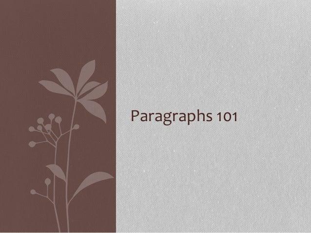 Paragraphs 101
