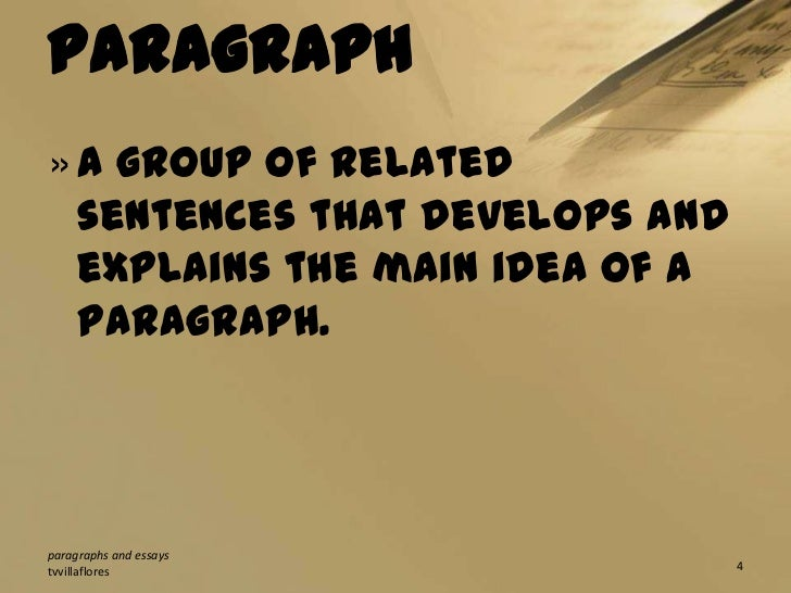 paragraph and essays In my opinion, writing an essay is less difficult as writing a paragraph because, a paragraph is simply centered on one idea only and is generally much shorter than.