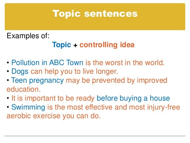 definition paragraph topics examples