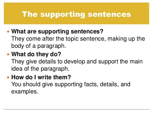 Good topic sentences for essays