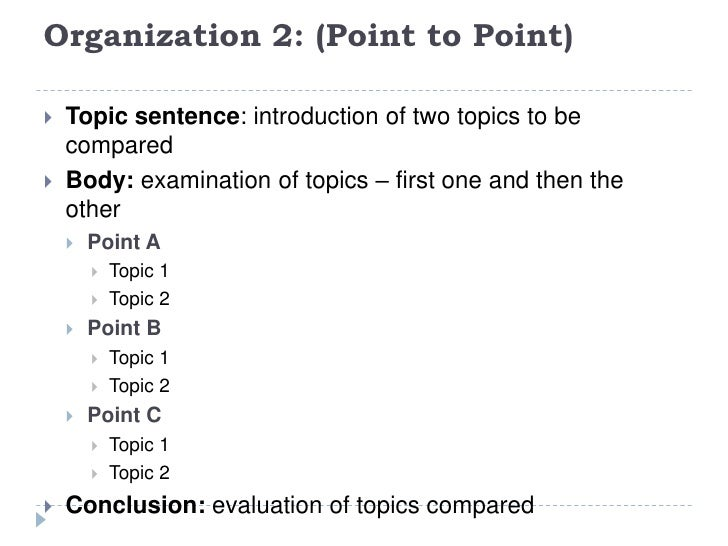 Point by point essay writing