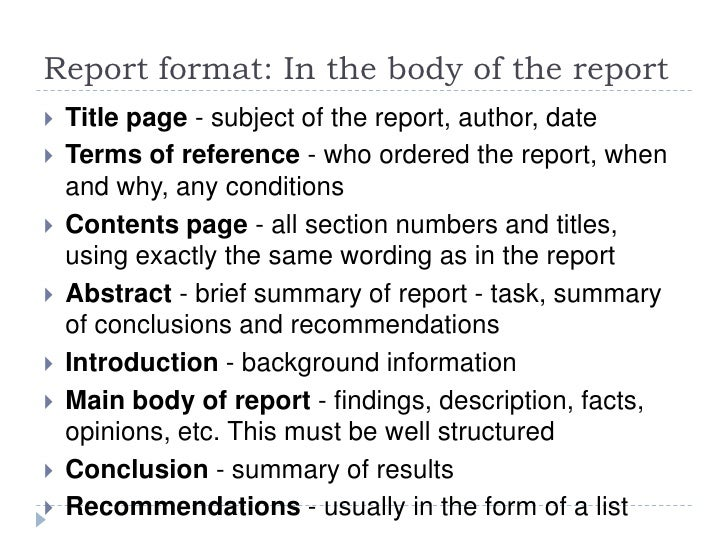 Financial Analysis Report Writing Management Resume Formal Reports Formal  Reports Samples How Bplans Blog