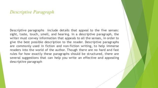 descriptive paragraph about the library A library is a treasure-house of knowledge a well-stocked library is an asset to the school, college, university or the neighborhood related articles: paragraph on.