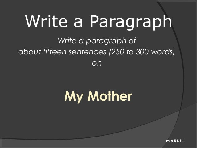 short paragraph on mother