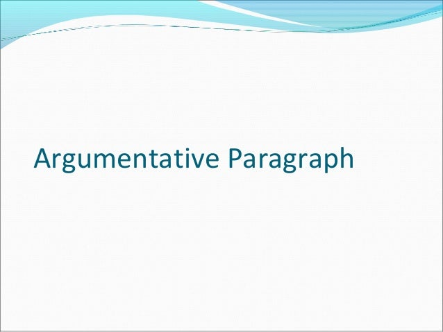 argumentative essay body paragraphs