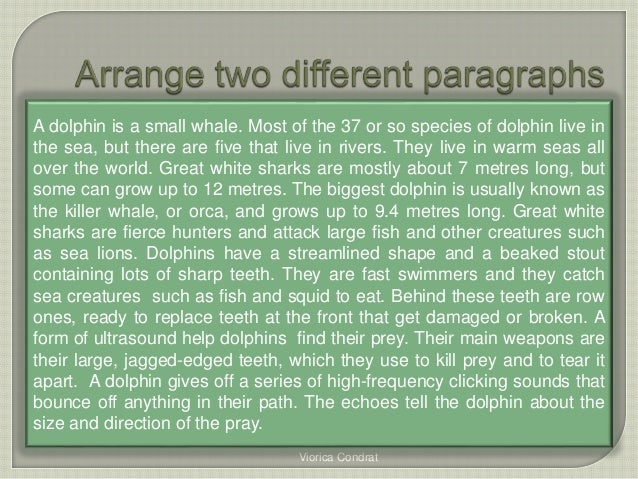All about sharks seven paragraphs