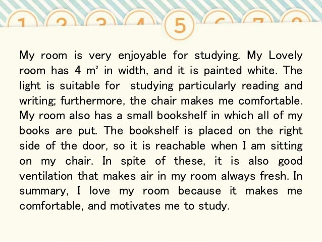 Example of My room essay