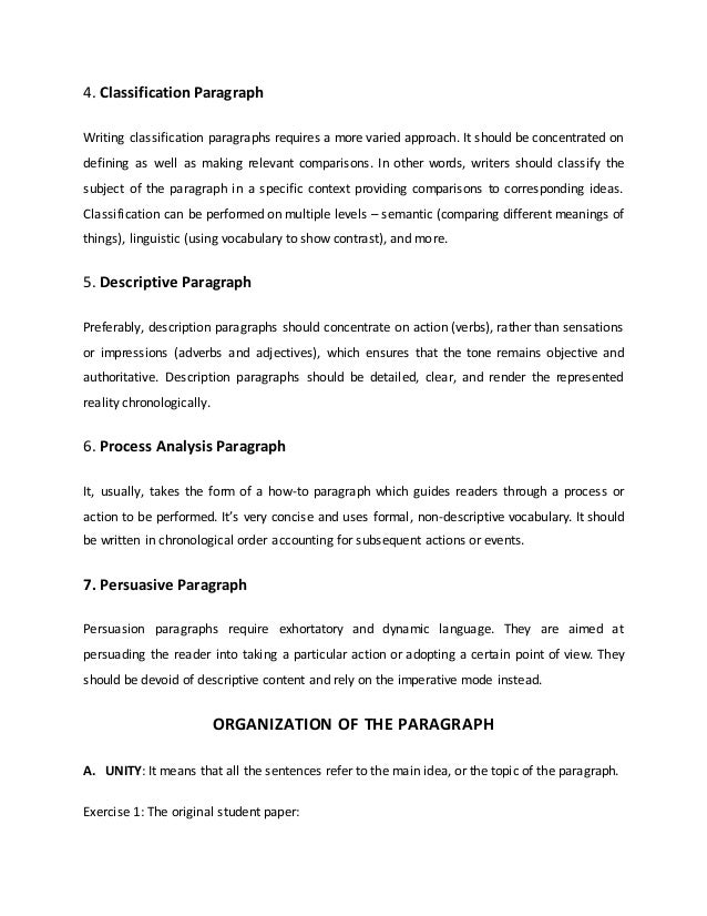 process analysis paragraph exercises