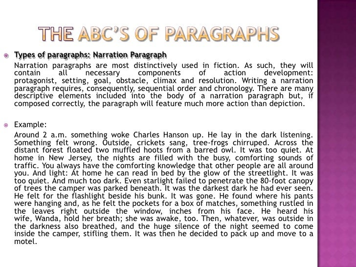 what types of paragraphs comprise the body of an essay Begin each body paragraph with a topic sentence  depending on the type of  essay that you are writing,.