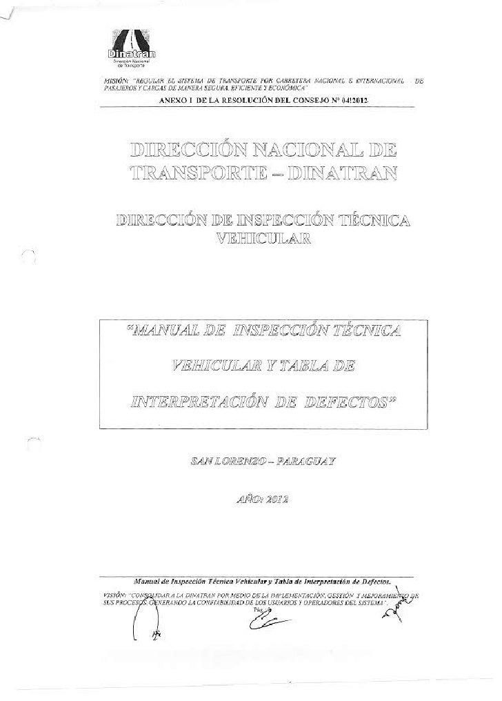 Paraguay - Direccion de inspeccion tecnica vehicular