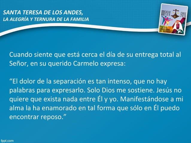 """Cuando siente que está cerca el día de su entrega total al Señor, en su querido Carmelo expresa: """"El dolor de la separació..."""