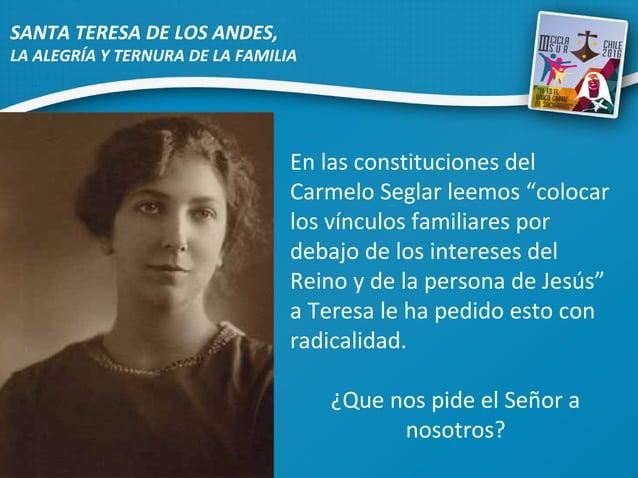"""En las constituciones del Carmelo Seglar leemos """"colocar los vínculos familiares por debajo de los intereses del Reino y d..."""
