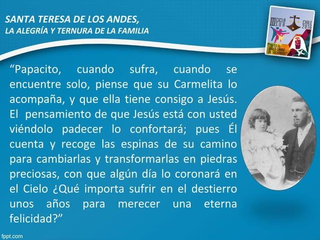 """""""Papacito, cuando sufra, cuando se encuentre solo, piense que su Carmelita lo acompaña, y que ella tiene consigo a Jesús. ..."""