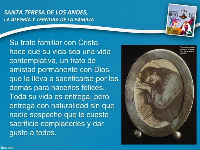 Su trato familiar con Cristo, hace que su vida sea una vida contemplativa, un trato de amistad permanente con Dios que la ...
