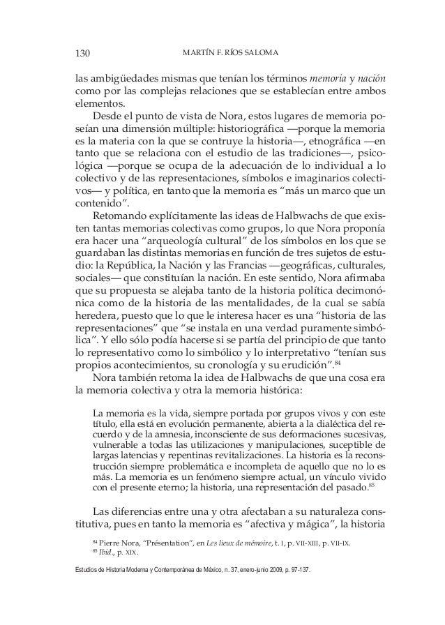 130 MARTÍN F. RÍOS SALOMA Estudios de Historia Moderna y Contemporánea de México, n. 37, enero-junio 2009, p. 97-137. las ...