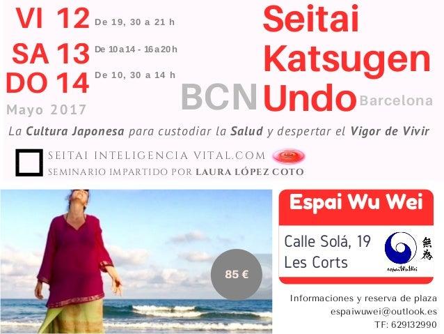La Cultura Japonesa para custodiar la Salud y despertar el Vigor de Vivir Seitai Katsugen Undo VI 12 SA 13 DO 14 Mayo 2017...