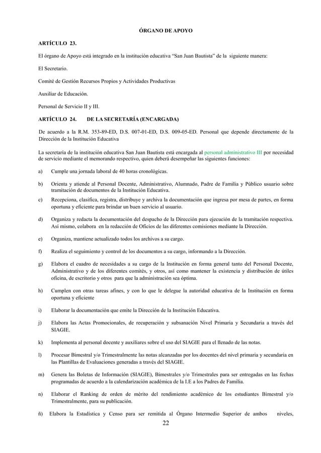 23 electrónicamente UGEL VIRÚ Y MINEDU. o) Elabora Certificados de Estudios, siguiéndose a las normas de su ejecución, con...