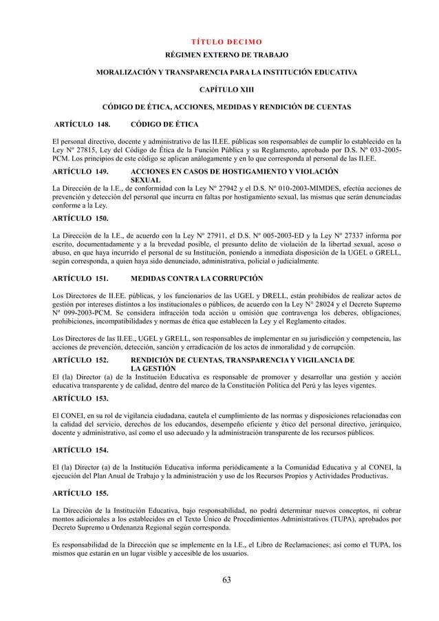 Reglamento Interno 2018 San Juan Bautista-Chao