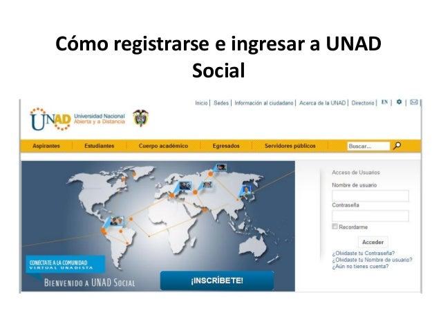 Cómo registrarse e ingresar a UNADSocial
