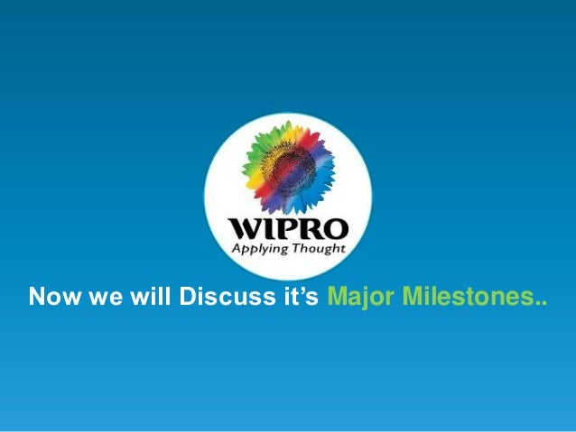 the future of nec and wipro technologies Wipro limited (nyse: wit, bse: 507685, nse: wipro), a leading global information technology, consulting and business process services company, today organized the 13 th edition of the 'spirit of.