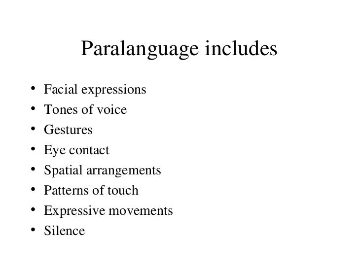 role of paralanguage in business communication